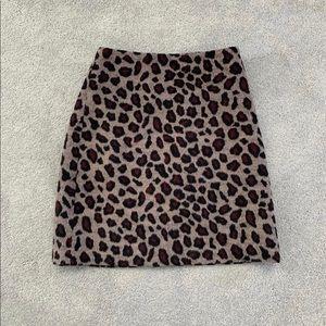 Ann Taylor Leopard Skirt Size 2